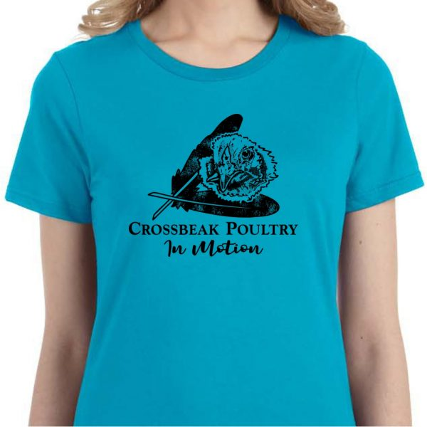 Cross Beak Chicken Ladies Crewneck Tee